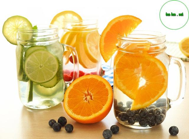 Tham khảo ngay cách làm detox giảm cân từ cam,kiwi, dưa hấu