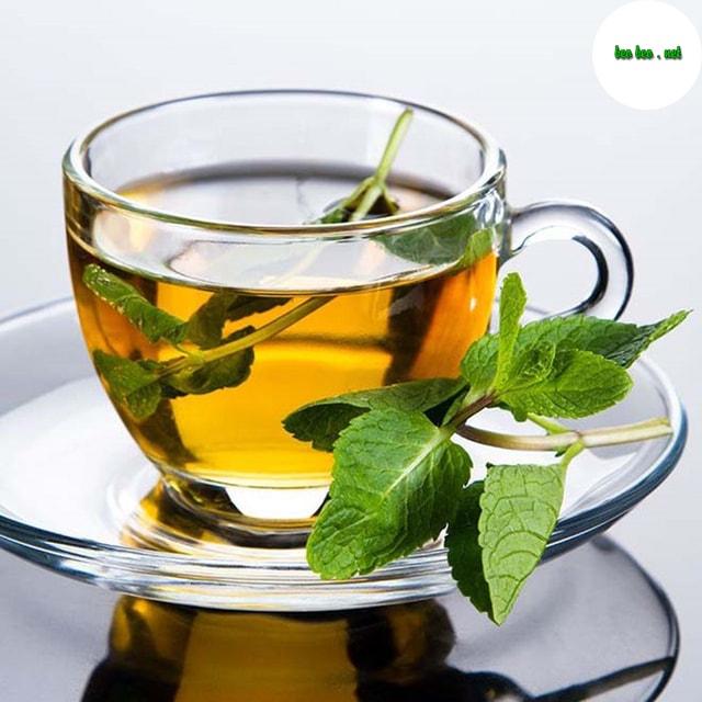 Cách làm trà gừng giảm cân với bạc hà