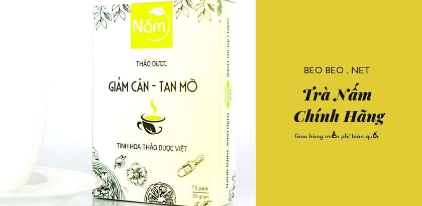 Banner trà giảm cân nấm
