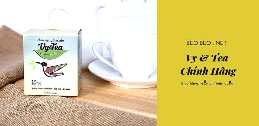 Banner trà giảm cân Vy & Tea