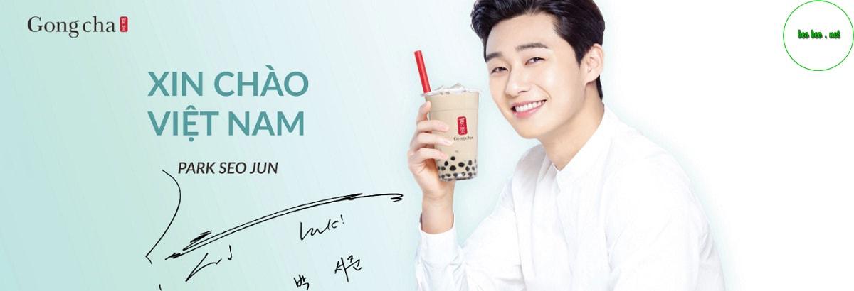 Banner trà sữa Gong Cha