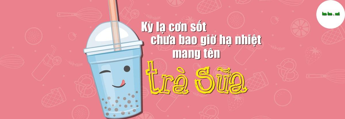 banner trà sữa ding tea